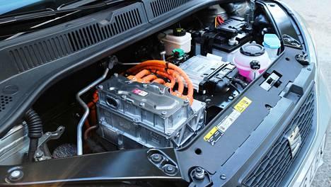 Kuvassa Seat Mii Electricin sähkömoottori.