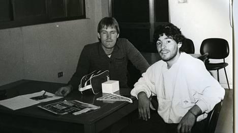 Juha Tamminen haastatteli Diego Maradonaa Napolissa syksyllä 1985.