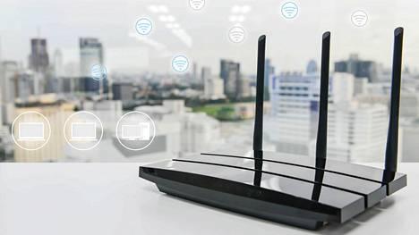 Kodin reititin on usein myös wifi-tukiasema.