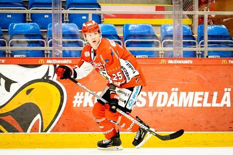 Vielä edelliskaudellaan 2018–19 Kiviranta pelasi Vaasan Sportissa. Tuolloin kukaan tuskin uskoi, että seuraavaksi avautuvat NHL:n portit.