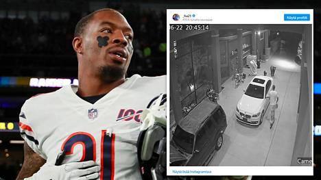 Karhukopla yllätti NFL-tähden kotipihalla.