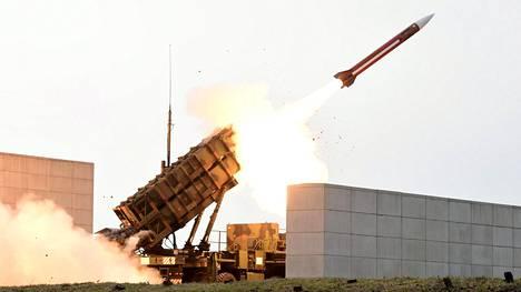 Patriot-ohjus laukaistiin ilmaan Etelä-Koreasta marraskuun alussa.