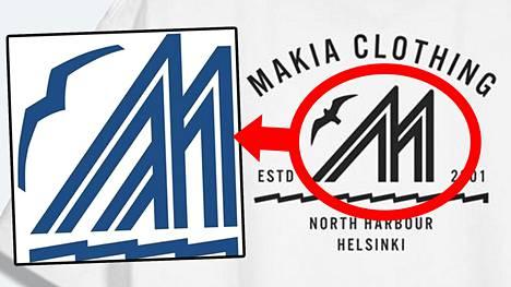 Makian mallistossa käytetty kuva muistuttaa huomattavasti helsinkiläisen pursiseura Merenkulkijoiden tunnusta (vasemmalla). Pursiseurassa Makian käyttämä kuva aiheutti pahastusta.