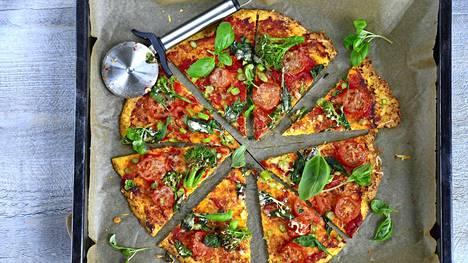 Tähän pizzapohjaan ei tarvita lainkaan jauhoja.