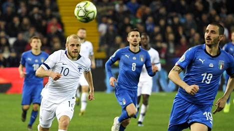 """Tappio Italiaa vastaan harmitti Huuhkajia: """"Olisi ollut mahdollisuus enempäänkin"""""""