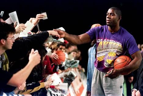 Magic Johnson on Los Angeles Lakersin ikoni.