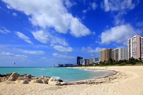 Miami on toiseksi varatuin syyslomakohde, Expedia kertoo. Kuvituskuva.