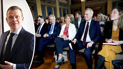 Kokoomuksen puheenjohtaja Petteri Orpo antoi hallitusneuvottelijoiden kuulla kunniansa.