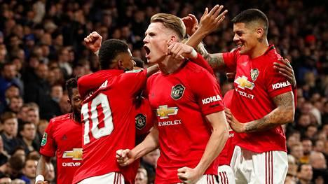 Manchester United juhli Chelsean kaatamista keskiviikkona.