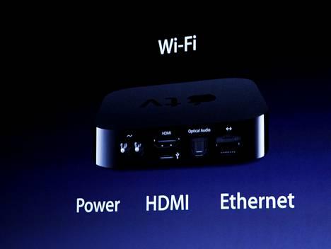 Vanhan Apple TV:n esittelyä vuonna 2010.