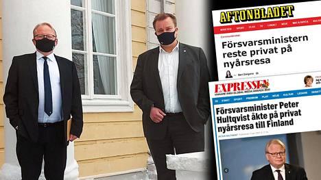 Puolustusministerit Peter Hultqvist ja Antti Kaikkonen tapasivat Königstedtin kartanossa tämän viikon maanantaina. Hultqvist oli ruotsalaislehtien mukaan tullut Suomeen yksityismatkalle jo uudenvuodenpyhinä ja hän tapasi Kaikkosen matkansa päätteeksi.