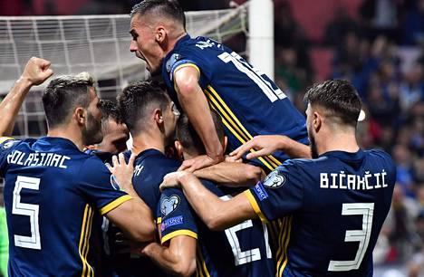 Lauantain ottelu oli Bosnian juhlaa.