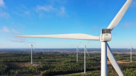 Santavuoren tuulivoimapuisto Ilmajoella, Etelä-Pohjanmaalla.