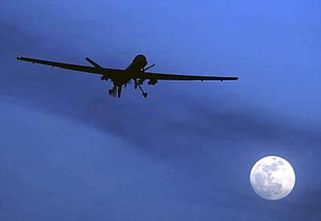 Yhdysvallat käyttää mm. tällaisia miehittämättömiä Predator-lennokkeja.