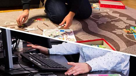 Osittaisessa vanhempainvapaassa isät ja äidit voivat olla osa-aikaisesti töissä ja viettää aikaa vuorotellen vauvan kanssa kotona.
