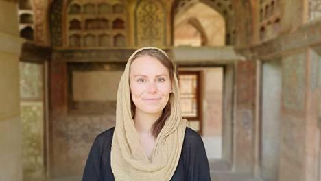Salla Kivekäs vietti Iranissa seitsemän kuukautta. Kuva on Esfahanin kaupungissa sijaitsevasta Hash Behesht -palatsista.