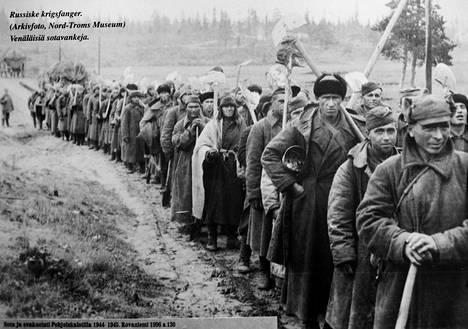 Neuvostovankien työolot Lapissa olivat kurjat ja työvälineet alkeellisia.