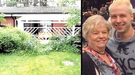 Kirsti Leskenmaa ja hänen poikansa Jere kuvattuna Riihimäki Rockissa 26.6.2015. Seuraavana yönä Jere joutui henkirikoksen uhriksi kuvassa näkyvällä terassilla.