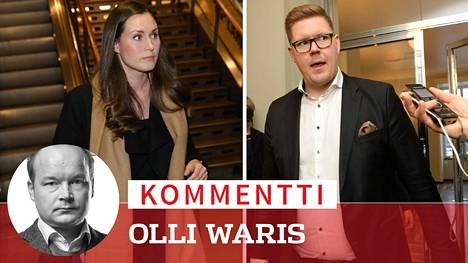 Sanna Marin ja Antti Lindtman kertoivat tiistaina olevansa käytettävissä pääministeriksi.