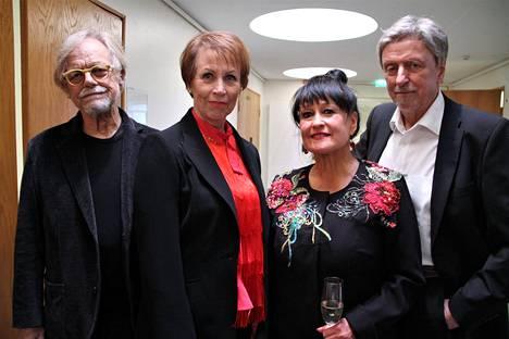 Agit Prop -kvartetti eli Pekka Aarnio, Monna Kamu, Sinikka Sokka ja Martti Launis vuonna 2017.
