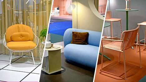 Värejä näkyi klassisesta linjastaan tunnetuilla Tukholman Stockholm Furniture & Light -messuilla lähes jokaisella osastolla. Värejä käytetään edelleen kuitenkin lähinnä tehosteeena.