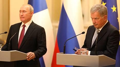Vladimir Putin ja Sauli Niinistö Helsingissä elokuussa 2019.