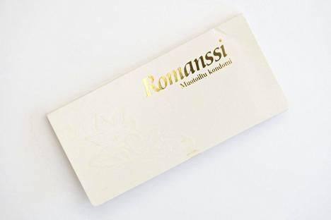 Romanssi-kondomi 1990-luvun alusta.