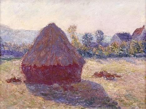 """Impressionismin mestarin Claude Monet'n öljyvärimaalaus """"Heinäsuova ilta-auringossa"""" on Serlachiuksen kokoelmien kruununjalokivi. Se on yksi arvokkaimmista Suomen museoissa olevista maalauksista."""