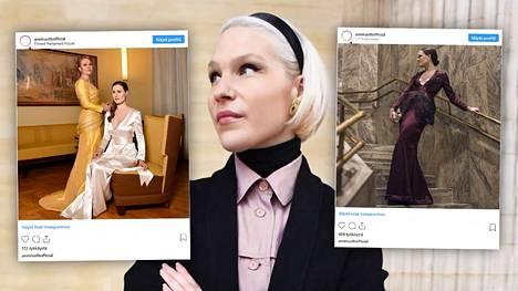 Vuonna 2017 Anni Ruuth suunnitteli Linnaan yhden puvun, 2018 kaksi. Tänä vuonna 29-vuotiaan suunnittelijan pukuja nähdään vastaanotolla jo kuusi.