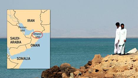 Näkymä Omaninlahdelle Irakin Chabaharista.