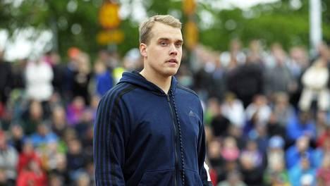 Ari Mannio voitti Pihtiputaan keihäskarnevaalit. Kuva Paavo Nurmi Gamesista Turussa 25. kesäkuuta.