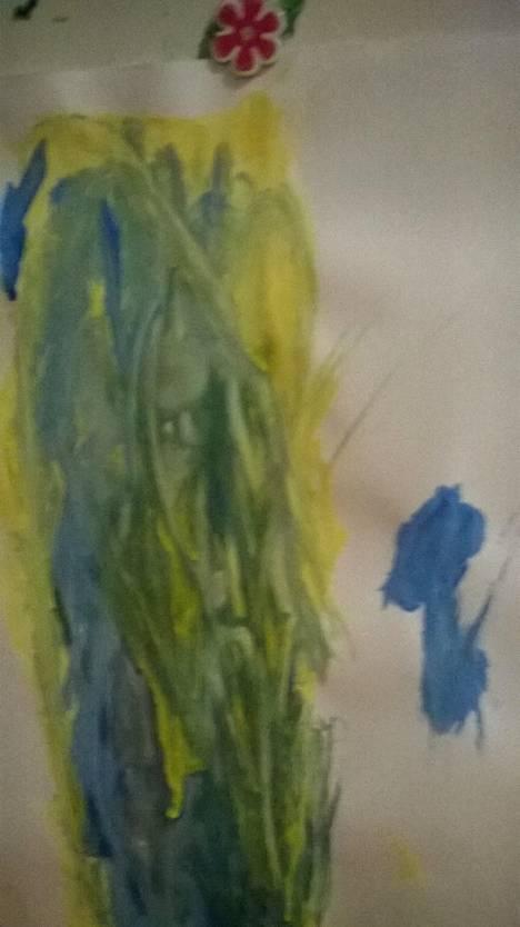Lukija kertoo: 4-vuotiaan tyttäreni vesivärityössä oli ennen lopullista kuivumistaan vanhan haltijamiehen kasvot.