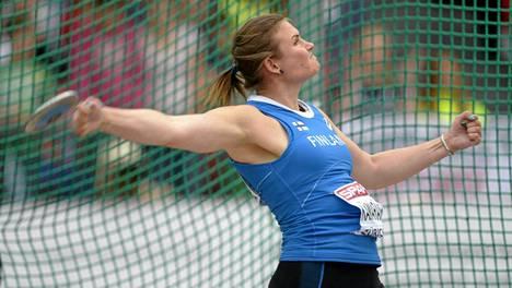 Sanna Kämäräinen heitti kahdeksanneksi Tukholman Timanttiliigan osakilpailussa.