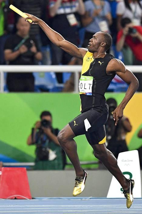Usain Bolt on olympiajuoksunsa juossut.