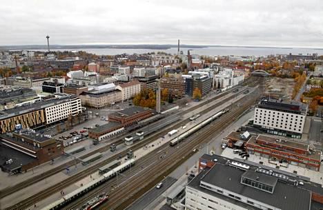 Näkymä Tampereen tornihotellista.