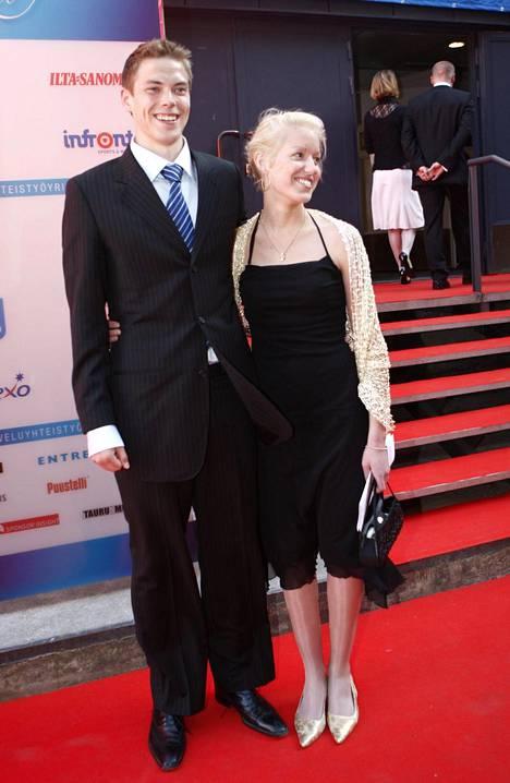 Petteri Koponen ja Linda Hatakka Urheilugaalassa vuonna 2008.