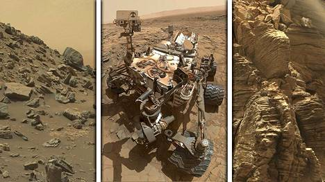 Nasa julkaisi Curiosity-mönkijän tällä viikolla ottamia kuvia.