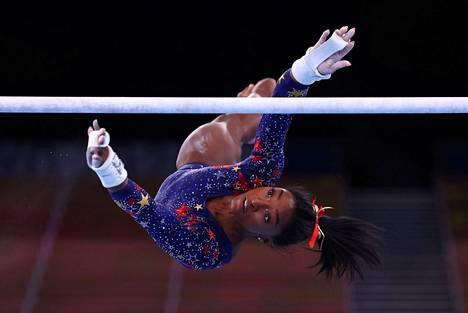 Simone Biles oli Tokion olympialaisten puhutuimpia urheiljoita.