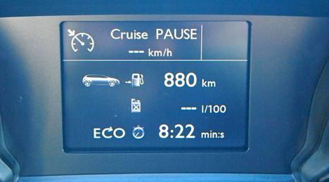 Datayhteyden kautta viranomaisille voitaisiin lähettää huima määrä auton käyttöön liittyvää tietoa. Kuvassa uuden Peugeotin ajotietokone, jossa ei ole datayhteyttä.