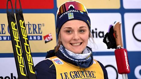 Nilssonin lajinvaihtoon kulminoituu Ruotsin maastohiihdossa vellova kohukausi. Kuvassa hiihtäjä Tour de Skillä joulukuussa 2018.