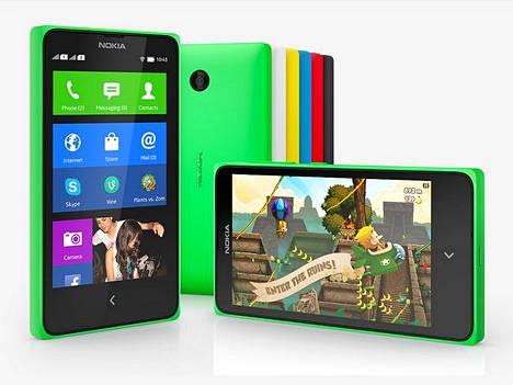 Nokia X -puhelimet pyörittävät Android-ohjelmia, mutta Google Play on korvattu Nokia Storella.