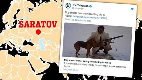 Venäläismiehen metsästysretki sai murheellisen lopun, kun tämän oma koira laukaisi vahingossa aseen kohtalokkain seurauksin.