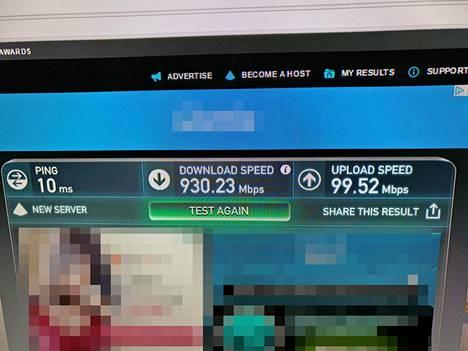 Nopeutta tuli melkein luvattu gigabitti. Useimmissa tapauksissa täyden nopeuden pullonkaulana toimii tietokone, joka modeemiin kytketään.