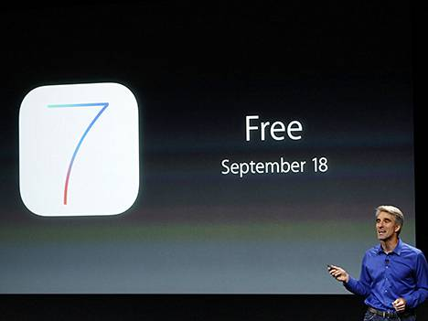 Apple esitteli iOS 7:n syyskuussa.