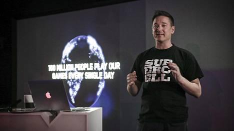Supercellin toimitusjohtaja Ilkka Paananen kertoi yhtiön viime vuoden tuloksesta ja tärkeimmistä tapahtumista keskiviikkona järjestetyssä tiedotustilaisuudessa.