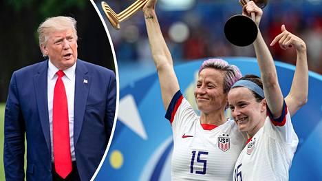 USA:n finaalisankarit Megan Rapinoe ja Rose LaVelle saattavat saada Donald Trumpilta kutsun Valkoiseen taloon.