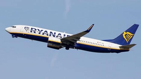 Ryanairin matkustajakone lentää lähellä Toulousea 27. syyskuuta 2019.