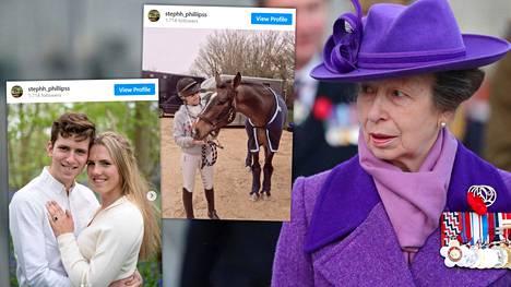 Prinsessa Annen lapsilla on 23-vuotias siskopuoli Stephanie Phillips.