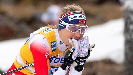 Therese Johaug oli ylivoimainen Östersundissa. Arkistokuva.