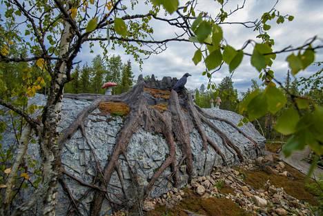 Päivikki Palosaari on itse ideoinut alueelle aktiviteetteja ja elämyksiä, kuten Seita Kiven tonttumaailman.
